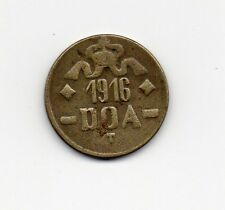 D.O.A.TANGANYIKA 1916 EMERGENCY TABORA  TWENTY HELLER BRASS COIN TYPE B-B DOA110