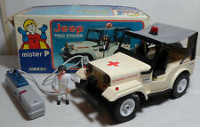 MISTER P M 32 GREEK VTG 80's B/O RED CROSS JEEP AIRGAM BOYS DRIVER WIRED R/C TOY