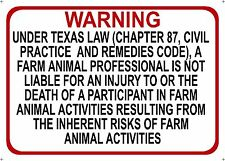 TEXAS Farm Professional Liability Sign - Chapter 87 civil practice code