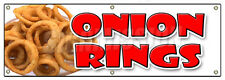"72"" ONION RINGS BANNER SIGN deep fried vidalia sweet crispy ring french fries"