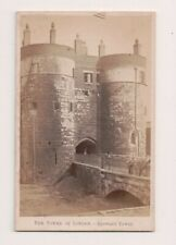 Vintage CDV The Tower of London Byeward Tower   J. Davis Burton Photo