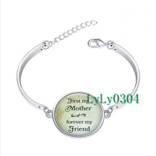forever my friend glass cabochon Tibet silver bangle bracelets wholesale