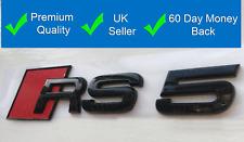 RS5 Gloss Black Badge Rear Boot Trunk Badge Emblem Logo