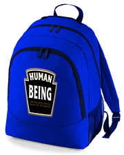 human being beans label -Funny unisex backpack rucksack bag From FatCuckoo