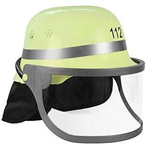 Feuerwehrhelm Für Kinder und Erwachsene, Karneval Helm Feuerwehr Spiel