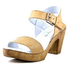 Sandalias y chanclas de mujer de color principal marrón de piel talla 39