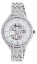 NEW AUTHENTIC FOSSIL AUTOMATIC SILVER WHITE DIAL WOMEN'S BQ3051 WATCH