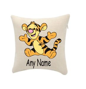 Winnie the Pooh Tigger Cushion Personalise Any Name (cover only) 20cmx20cm