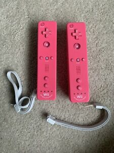 Nintendo Wii Remote Plus Motion Controllers OEM Pink 2 Pack!