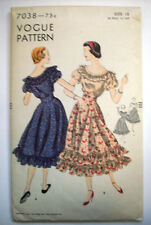 1950's Vogue Square dance rockabilly  dress  pattern 7038  size 12 unused