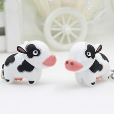 Funny Little Cow Animal LED Keychain with Sound Key Holder Mini Torch Flashlight