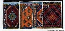 Algeria Sc 393-6 NH issue of 1968 - Traditional Rugs