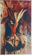 """Baphomet Mask Girl GIANT WIDE 42"""" x 24"""" Poster Nude Art Fantasy Mancave Evil"""