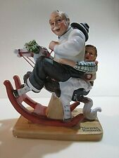 """Norman Rockwell 12 Porcelain Figurines - """"Gramps At The Reins"""" - September 1980"""