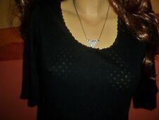 Süßes Vintage Unterhemd gemustert schwarz Gr. L Damen Spencer ungetragen (B460)