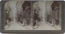 Quartier latin Paris Photo Stéréo Stereoview Vintage