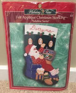 "Bucilla Felt Stocking Kit 18"" -""Sideline Santa"" Christmas TV Football 84184"