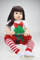 2019 Reborn Baby Girl dolls Handmade Vinyl Silicone Lifelike Dolls kid Gift 28''