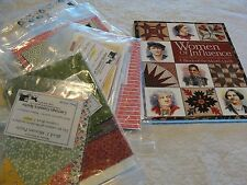 WOMEN OF INFLUENCE BOM 1930's Collection Applique & Pieced Quilt & Book 65x82""
