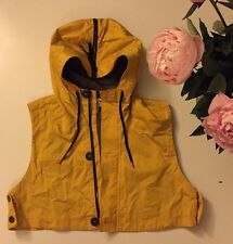 Marni X H&M Yellow Cropped Sleeveless Hooded Top Vest Jacket Size S
