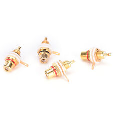 10Pcs Gold Plated Female RCA Phono Jack Panel Mount Chassis Connectors Socket TS