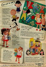 1969 ADVERTISEMENT Doll Charlie Brown Lucy Remco Beasley Buffy Mattel Tutti Todd