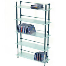 MAXWELL DVD / CD / Media Storage Shelves Frosted MS2409