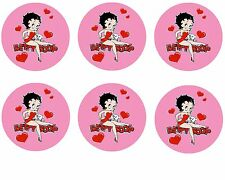 Betty Boop Edible Party Image Cupcake Topper Frosting Icing Sheet Circles