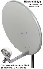 Dual Mobile Broadband Aerial Antenna Booster Huawei E398 1800-2100Mhz TS9 27dBi