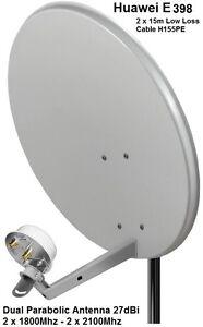 Dual Mobile Broadband Aerial Antenna Booster Huawei E398 1800-2100Mhz TS9 27dBi