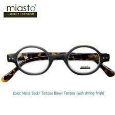 "NWT$39.99 MIASTO ""CIAO ITALY"" SMALL ROUND OAVL READING GLASSES+1.00 BLACK BROWN"