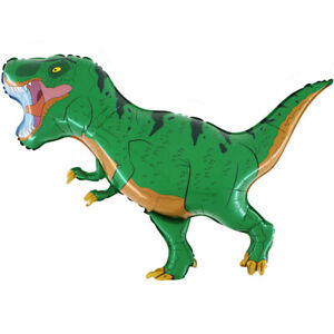 Dino Saurier T-Rex grün Luftballons xxl Folienballon Geburtstag Helium Party