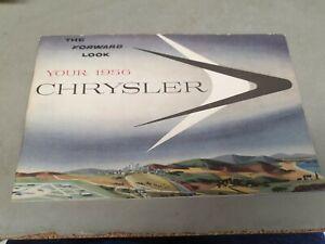 1956 CHRYSLER WINDSOR & NEW YORKER Original Owners Manual