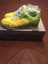 Asics X Slam Jam Yellow Green GL3 Size US 8.5 Mens DS gel lyte iii new fieg