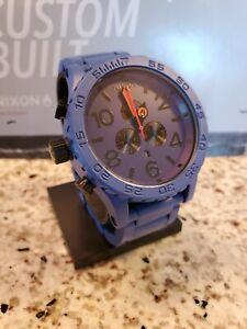 NEW Nixon 51-30 Rare Blue Chrono Watch CUSTOM