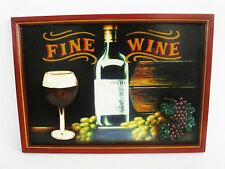"""Schild """"Fine Wine"""" 60x40cm, handbemalt, Weinbild, Deko Wanddeko, Bild  (3300120)"""