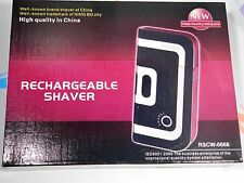 RECHARGEABLE  ELECTRIC TRAVEL SHAVER, RAZOR / MODEL RSCW-0668/ 1 PIECE (qzty)
