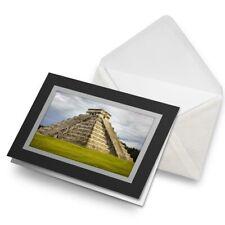 Greetings Card (Black) - Chichen Itza Temple Maya Mexico Birthday Gift #8877