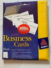Avery Business Cards For Laser Printers White 5371 New Open Box 250 Cards