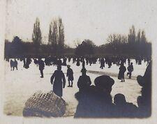 Patinage au Bois de Vincennes Paris 8 petites photos amateur 1917