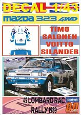 DECAL 1/43 MAZDA 323 4WD T.SALONEN RAC R. 1989 6th (07)