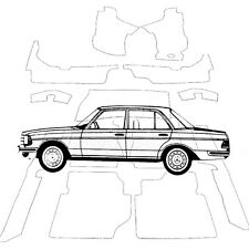 Mercedes W123 Limousine Teppich Velours anthrazit Keder Kunstleder schwarz