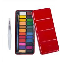 Watercolor Paint Set 24 vibrant colors Perfect for hobbyists and Kids Portable