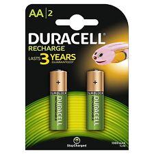 2 DURACELL AA 1300 mAh Pre resta carica batterie ricaricabili NiMH hr6 dc1500