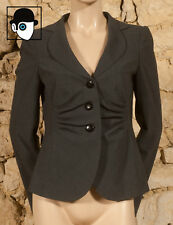 'ARMANI - COLLEZIONI' 00s  RUCHED JACKET - UK 10 fitted 12 - (Z)