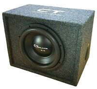 """CT Sounds Single Bio 12"""" In Subwoofer Bass Package with Factory Tuned Ported Box"""