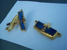 NEW SET 1977 1990 CHEVROLET CAPRICE TRUNK AND FRONT BLUE LOCK EMBLEM CHEVY