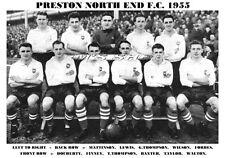 PRESTON NORTH END F.C.TEAM PRINT 1955 (LEWIS/FORBES/FINNEY)