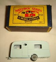 Matchbox MOKO Lesney No.23a BERKLEY CARAVAN - VGC with ORIGINAL Type B BOX