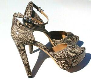 Jessica Simpson high heels platform Shoes Size 10.5, 11 black tan snake OFFER nw